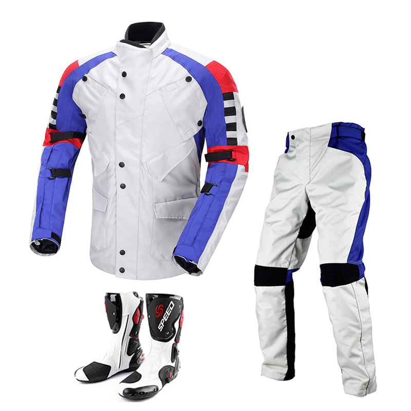 DUHAN Motocross Off-Road Riding Body Protection Clothing Suit Windproof Waterproof Motorcycle Racing Jackets Pants with Boot Set(China (Mainland))
