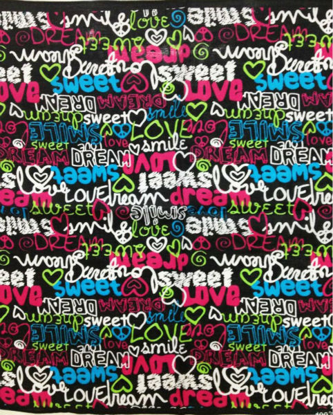 100% Cotton Sweet Love Heart and Words Printed Bandanas Headwear Scarf 55cm*55cm Neck Tie Square Scarves For Women/Girls(China (Mainland))