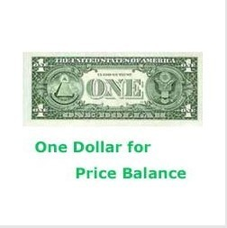 Additional Pay on Your Order  One dollar for price balance