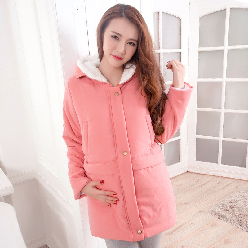 Maternity clothing fashion berber fleece winter wadded jacket winter cotton-padded long-sleeve overcoat pregnant women<br><br>Aliexpress