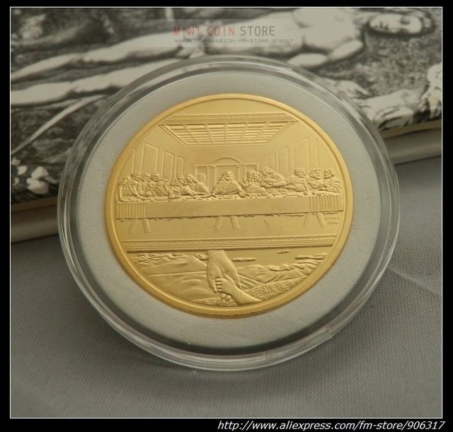 5pcs/lot Apart area Free shipping High Quality Jesus Buddhism souvenir Gold clad coins