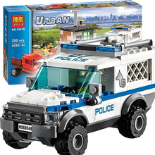 1 Box 250pcs City Police Dog Unit Minifigures sets 10419 Building Blocks Action Figures Toys Compatible with Lego 60048 LR-733