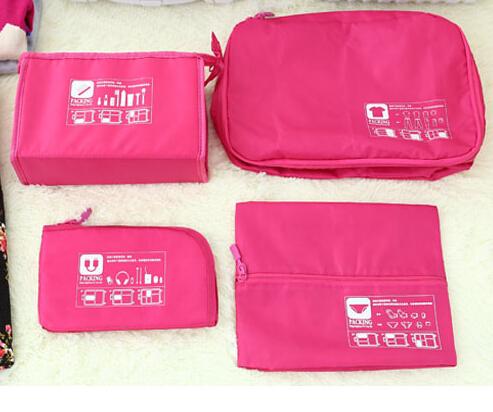 Waterproof 5pcs/set Traveling Packing Cubes Clothes Organizer Storage Bag In Bag NI(China (Mainland))