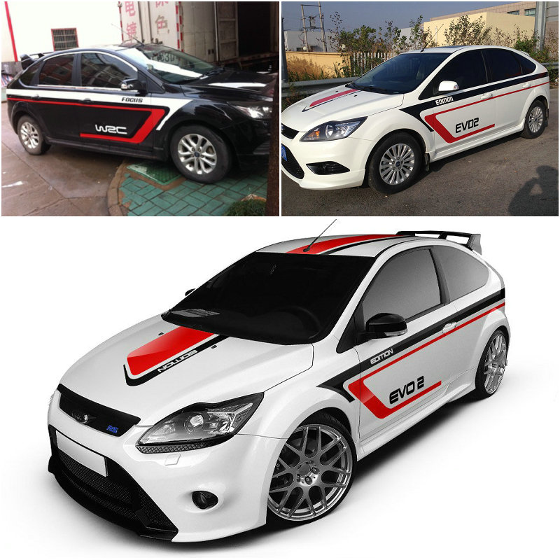 2016 New Design Full Car Body Stickers for Ford Focus Golf