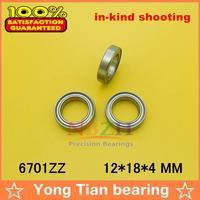10pcs free shipping The high quality of ultra-thin deep groove ball bearings 6701ZZ 61701ZZ 12*18*4 mm