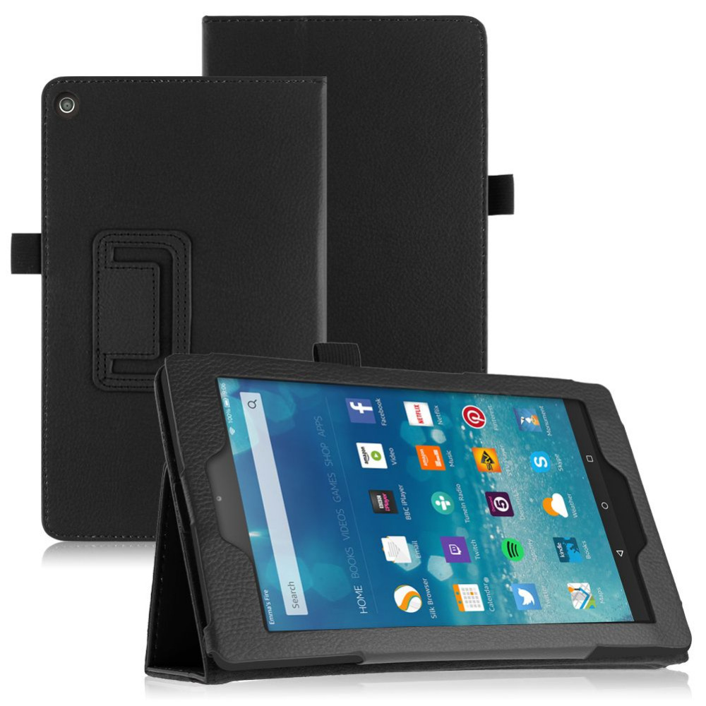 Flip Leather Case Stand Cover For Amazon Kindle Fire HD 8 2015 Tablet PC(China (Mainland))