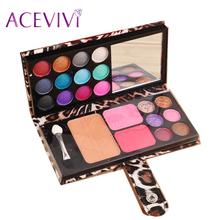 12 Color Eyeshadow Palette Glitter Professional Makeup Kit Makeup Set Cosmetic Blush Blusher Powder Palette $5y(China (Mainland))