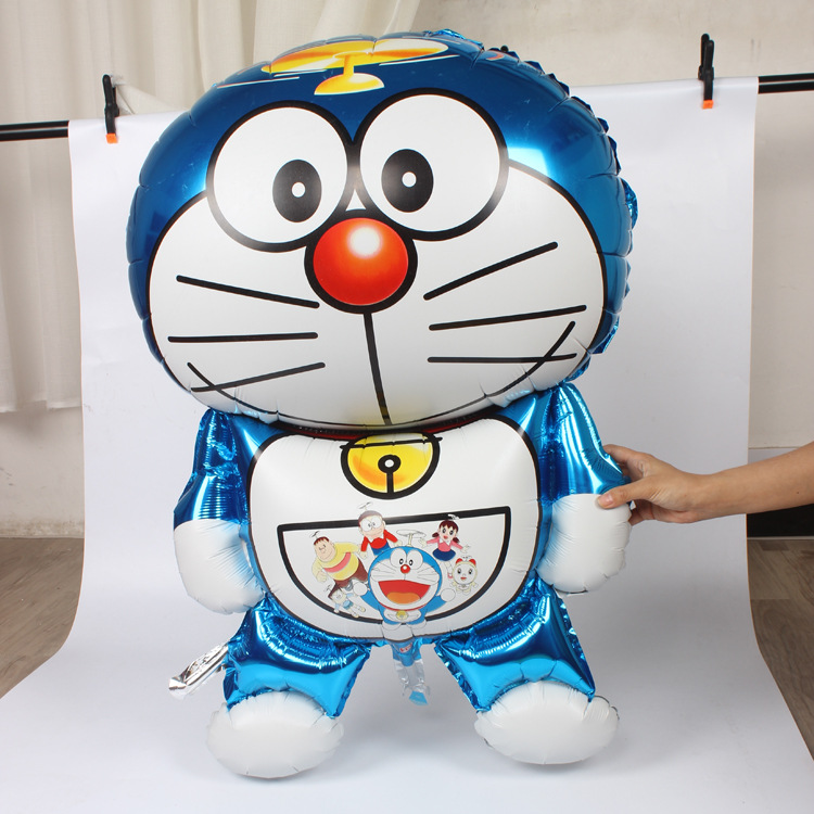 105x66cm Classic Big Toy Air Balloons Decoration Kids Party Globos Birthday Foil Helium Inflatable Doraemon Cat Balloons B032(China (Mainland))