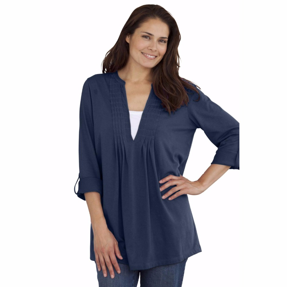 8color xxl 10xl large size women box stitched tunic tee for Womens denim tunic shirt