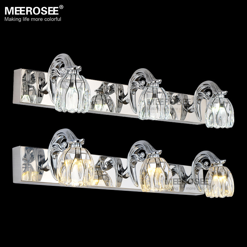 Hot Selling LED Mirror Wall light Fixture Glass LED Wall lamp for Bathroom Dress Room Chrome LED Wall Light Lustre MD81632(China (Mainland))