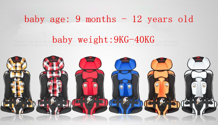 Child Car Seat 36 kg,Boys and Girls Car Seat for Infants,6 Colors for Choosing,Popular Car Booster Seat Covers,Size:27*38*60cm(China (Mainland))