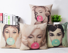 Pope Marylin Monroe Linen cotton pillow cover/ cushion cover / sofa cushion