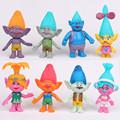 New 8pcs set DreamWorks Trolls Movie PVC Action Figures Poppy Trolls Doll Toys For Kids Birthday