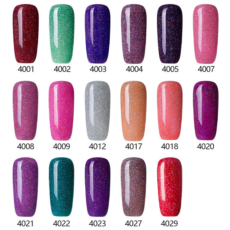 2016 Best Selling Neon Cor de Longa Duração Gel UV Unha Polonês Cor Gel Unha Polonês Gel Polonês Roxo Escuro 3D Brilho Das Unhas esmalte