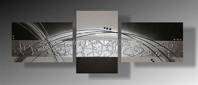 Moderno 3d dipinti ad olio su tela 40 60 3 40 50 3 - Quadri camera da letto ...
