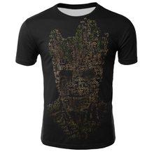 Groot Tシャツ Tシャツ男性ユニセックス × 惑星君主バウンティハンタースーパーヒーロー映画の守護者 galaxy おかしいノベルティ 3d tシャツ(China)