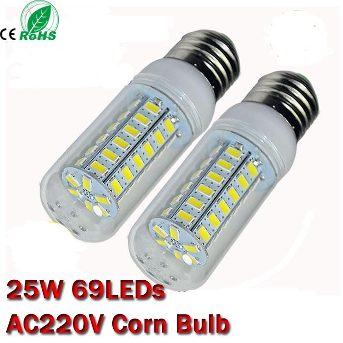Super Bright 25W LED E27 E14 5630 SMD lamps 220V LED lanterna light,High Quality corn bulbs Wholesale(China (Mainland))