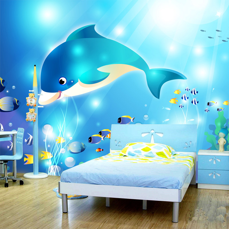 Online get cheap dolphin wall mural for Dolphin wall mural