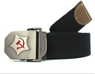 2015 New Men Belt Thicken Canvas Communist Military Army Tactical Strap - Pegasus Store store