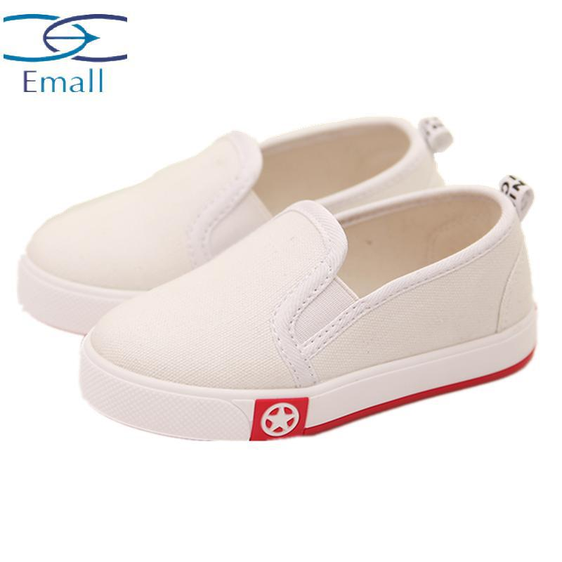Casual Flat With Child Canvas Shoes Girls And Boys Fashion Sneakers Shoes Kids Solid Cotton Fabric Canvas Boy Spring Autumn Shes<br><br>Aliexpress