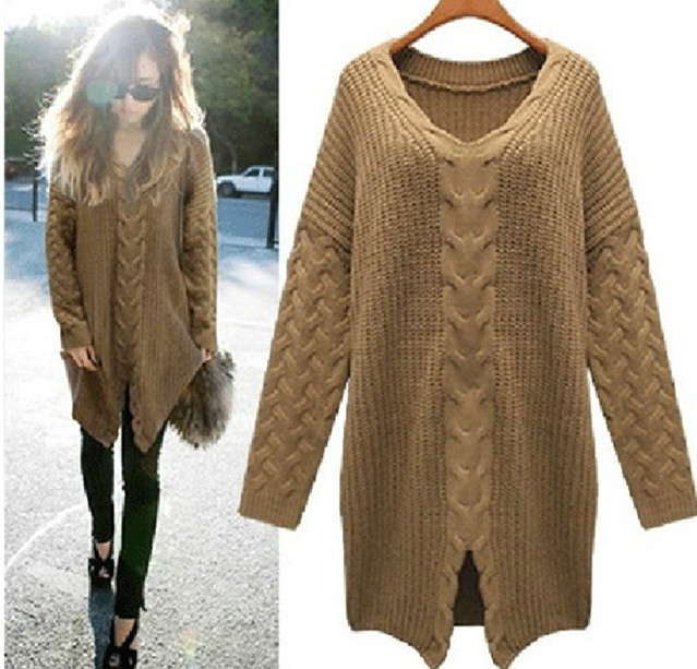 free shipiing 2016 new fashion brand sweater superb quality v-neck women sweaters knitwear render pullover 4 colors lxy085(China (Mainland))