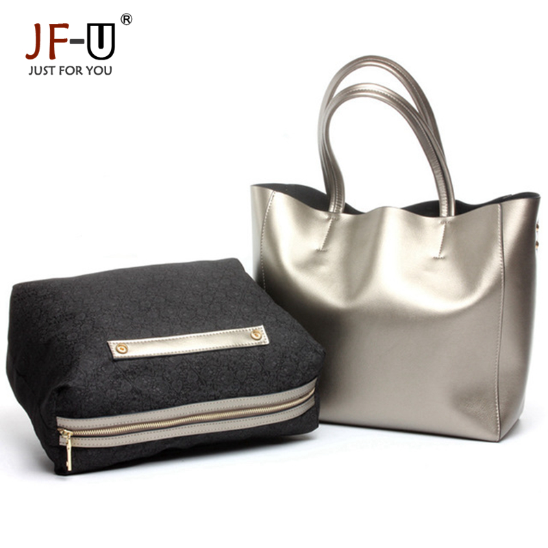Genuine Leather Bag Casual Tote Composite Silver Women Bags Hand Bag Crossbody Bags For Women Kabelky Women 2016 bolsa feminina<br><br>Aliexpress