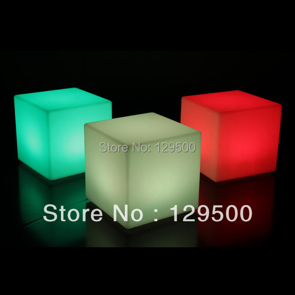 60cm RGB LED cube chair with remote control and rechargeable battery(China (Mainland))