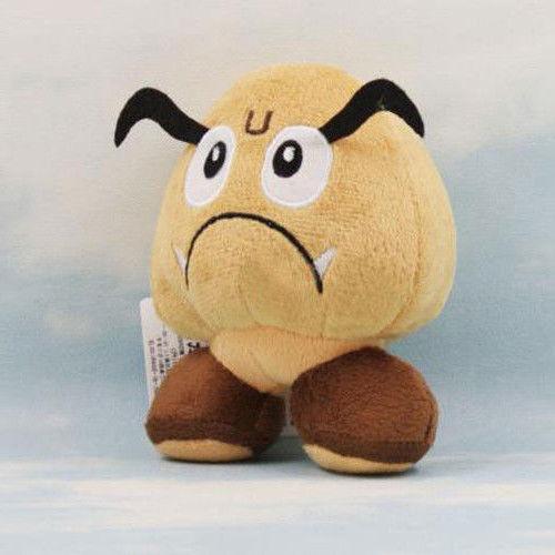 Super Mario Bros Plush Toy Goomba Nintendo Game Cute Stuffed Animal Doll 5 inch(China (Mainland))