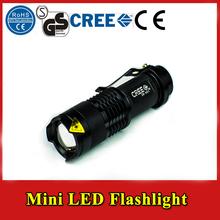 mini portable 3w led flashlight Mini zoomanle cree Flashlights Hunting light carry caving hiking night riding led for hunting(China (Mainland))