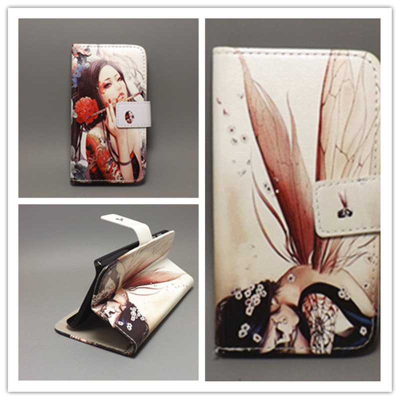 Butterfly Flower Flag Designer Wallet Flip Stand Book Cover Case Alcatel One Touch Idol 2 Mini S 6036 6036Y free shpping - mm-01 store