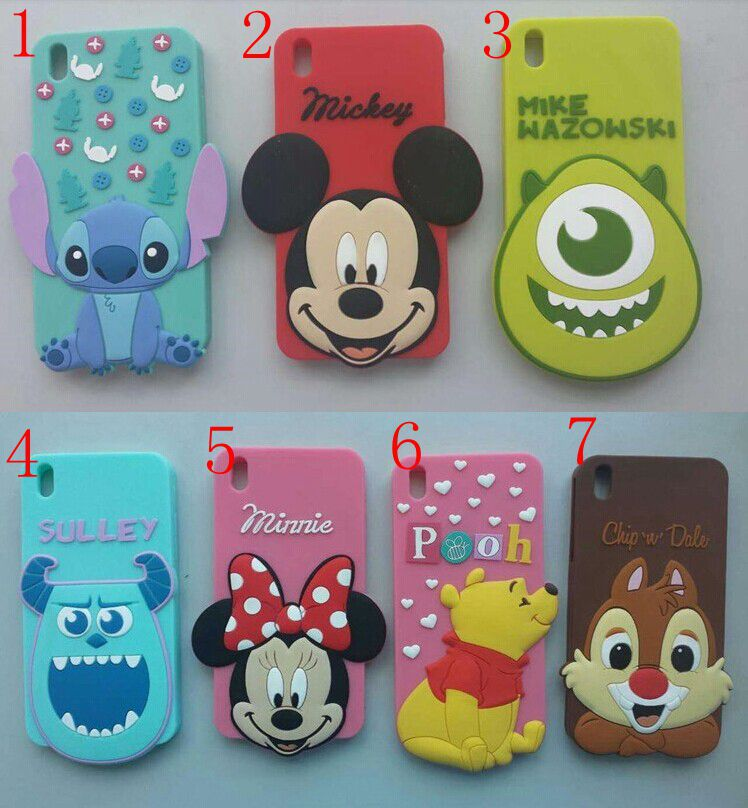 New 2014 Cartoon Cute Lovely Minnie Stitch Chip Rubber Silicone Skin Cases For HTC Desire 816 Covers Free Shipping(China (Mainland))