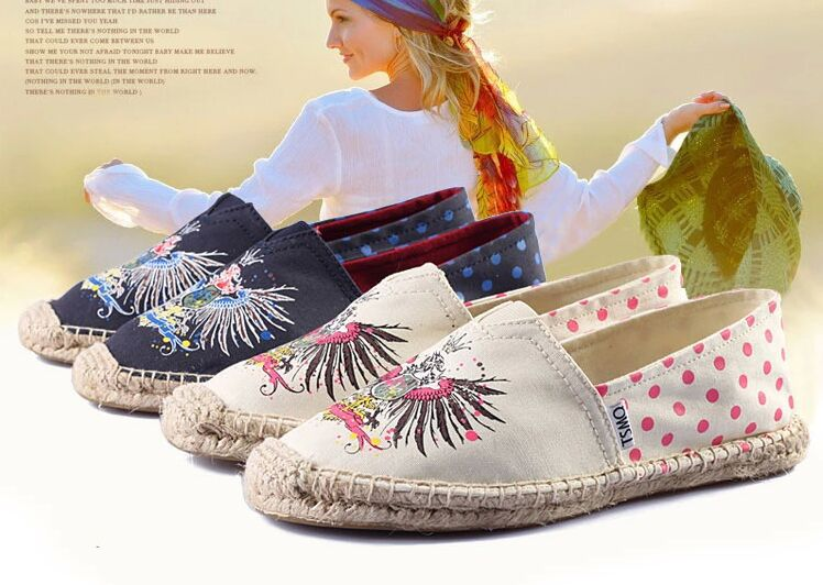 Spring autumn Fisherman shoes women's Pisos flats 2015 mujer Embroidery printing canvas women casual - Fashion Shop 7 store