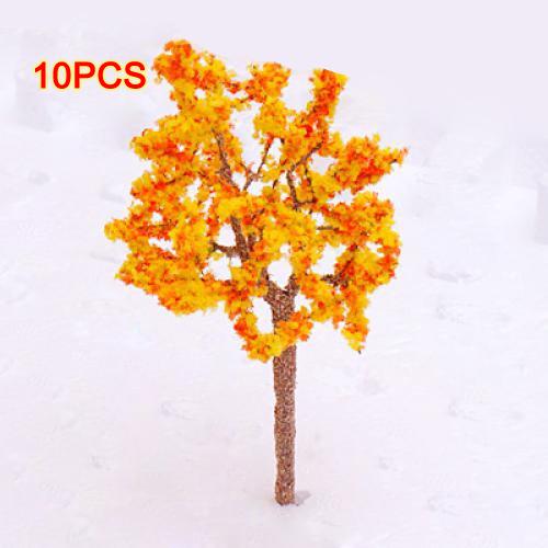 Здесь можно купить  EWS Wholesale Model Tree Train Orange Flowers Set Scenery Landscape OO HO - 10PCS  Дом и Сад
