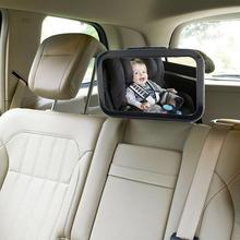 Adjustable Belt Back Seat Car Inner Mirror Square Facing Rear View Headrest Mount Mirror Safety Baby Kids Monitor Car Styling(China (Mainland))