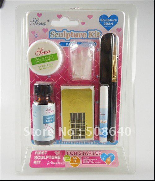 4x acrylic set wholesale sculpture kit for nail art care for Plexiglas beistelltisch 3er set