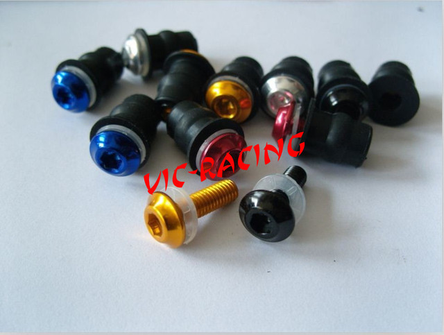 [Vic] 64 *pcs/lot  Windscreen Fairing Bolts Screw Nut Well nut body work bolts+ Free shipping