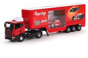 free shipping, Container truck exquisite red alloy car models 2159 toys