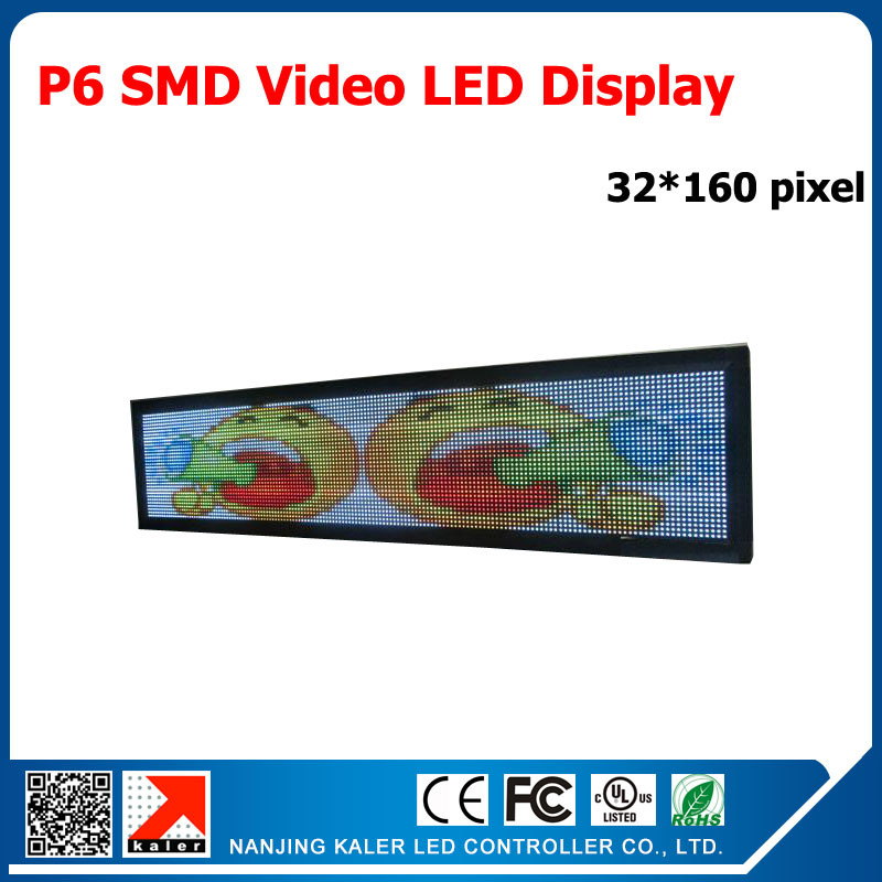 6mm pixel full color module Indoor/semi-outdoor LED display panel p6 RGB SMD 192x960mm Indoor Video Wall LED Display(China (Mainland))