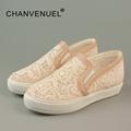 Elegant Loafers Shoes Women Slipony Casual Lace Round toe Shoes Woman Fashion Flat Platform Heel Shoe