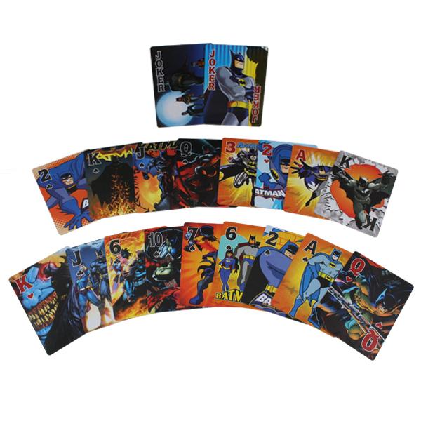 1(pack) x New The Super Hero Cartoon Figure Batman Characters Playing Cards Poker FREE SHIPPING to WORLDWIDE(China (Mainland))