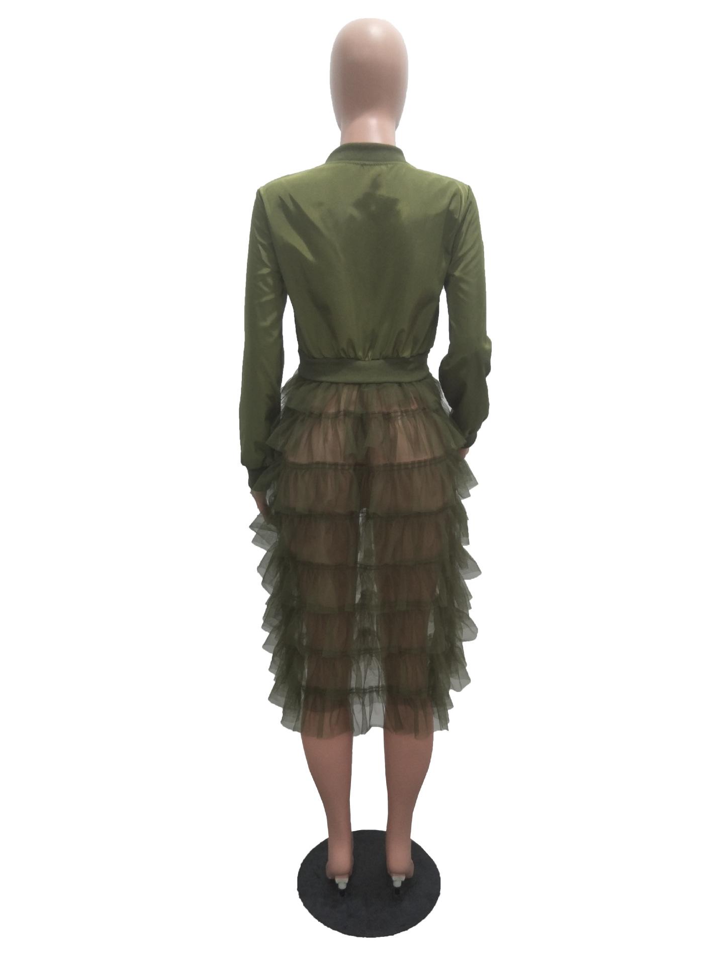 Большой размер 3XL Женская длинная куртка куртки на молнии с длинными рукавами undefined