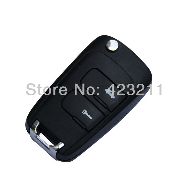 New Blank Flip Folding Remote Key Shell Case For Chevrolet Epica 2 Buttons FT0086