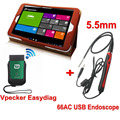 Universal Automotive Scanner Vpecker WIFI OBD2 Car Diagnostics Scanner 66AC USB Inspection Endoscope
