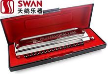 Лебедь гармоник SW1664-2 16 отверстие 64 тон хроматической лазерной логотип площадь гармоника