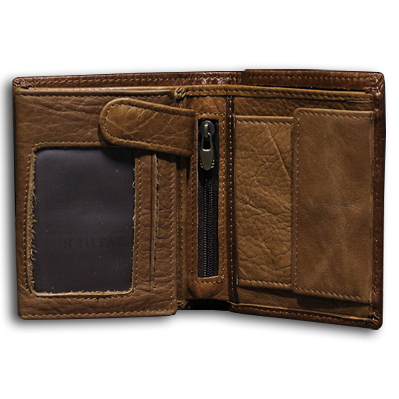 Wallet men 100% genuine leather men wallets top quality trifold wallet purse with coin pocket clutch big capacity practical!(China (Mainland))
