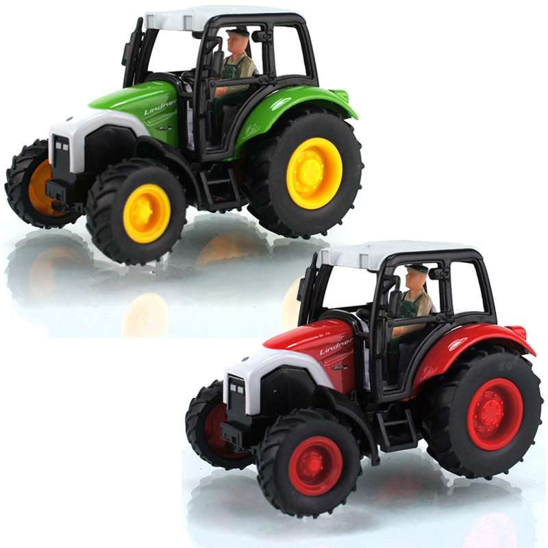 Small Toy Cars For Boys : Alloy small tractor model toy car educational toys