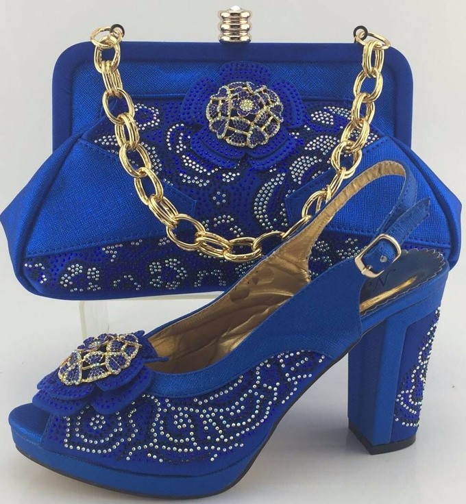 High Quality Heels Pumps Shoes African Design Women Shoes And Bag Set To Match Italian Shoes With Matching Bags Set ME3316