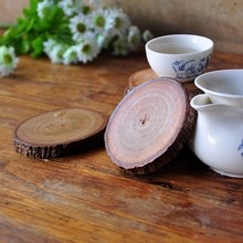 1PC High Quality Household Nature Wood Grain Solid Wooden Cup Pads Mug Mat Drink Coasters Teacup Pad (6-8cm Dia.)(China (Mainland))