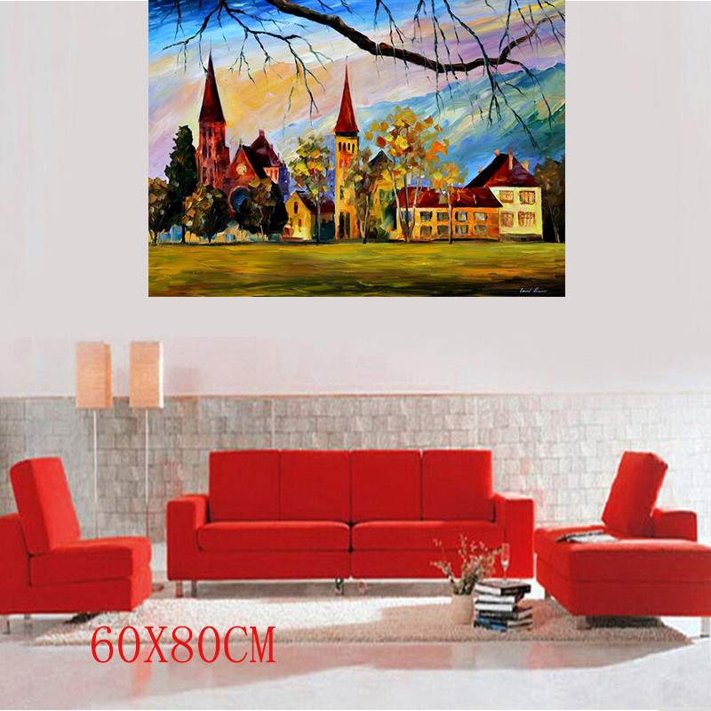 "Buy hot sale 2016 Free Shipping 100% Hand-painted Art Modern Palette Knife Oil Painting On Canvas 3PCS/LOT 24""x32"" HT 12628 cheap"