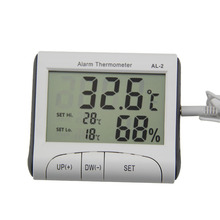 Buy LCD Display Digital Indoor Hygrometer Clock Alarm Temperature Humidity Meter Gauge Thermometer Barometer Weather Station TB Sale for $4.18 in AliExpress store